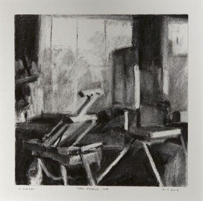 Connie Hayes, 'Two Easels, VH '