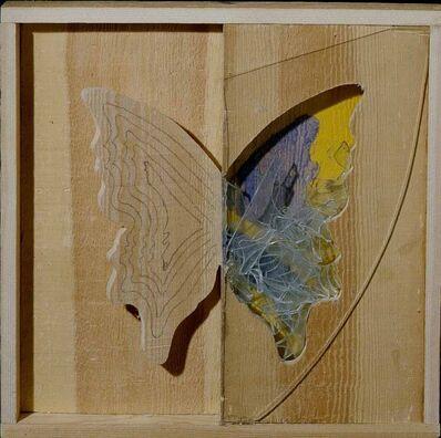 Mario Ceroli, 'Farfalla ala giallo-viola', 2006