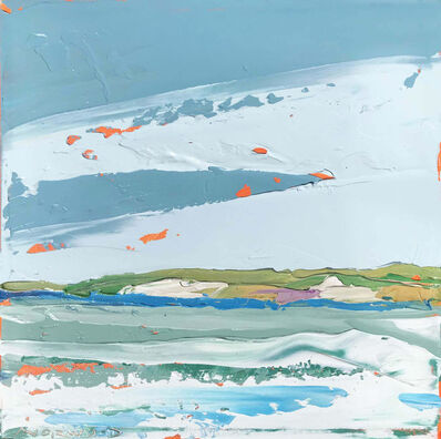 "Paul Norwood, '""Sea Foam"" Impasto Landscape Painting of a Martha's Vineyard Landscape', 2018"