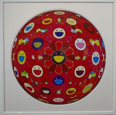 Takashi Murakami, 'Flowerball (3D) - Red Flower Ball', 2013