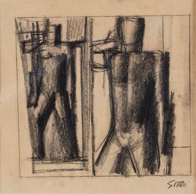Mario Sironi, 'Due studi per una figura del rilievo Il Popolo Italiano del Palazzo del Popolo d'Italia', 1940 ca.