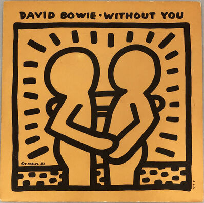 Keith Haring, 'Rare Original Keith Haring Vinyl Record Art (David Bowie)', 1983