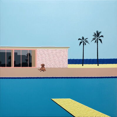 Natan Elkanovich, 'Homage to Hockney 2 - landscape painting', 2020