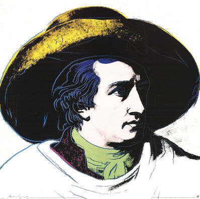 Andy Warhol, 'Goethe Black and Yellow (Lg)', 1990