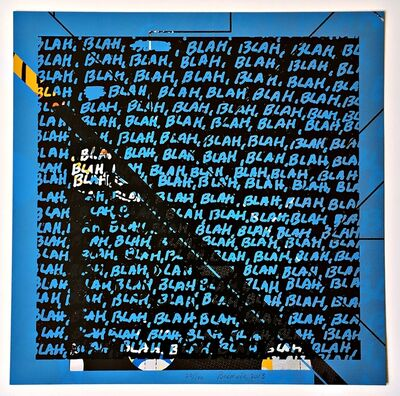 Mel Bochner, 'Blah, Blah, Blah (Blue) + Background Noise (Two-sided)', 2013