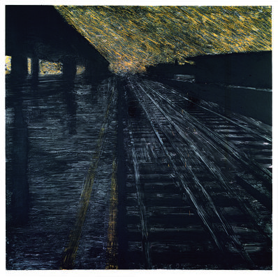 Donald Sultan, 'Herndon Railway, 18 August 1988', 1988