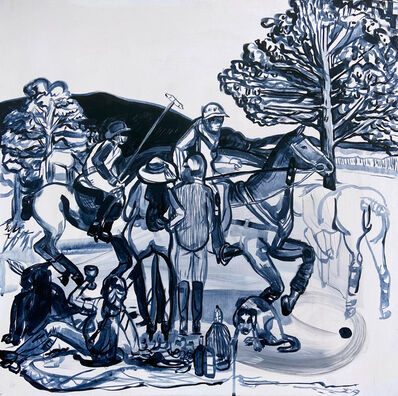 Suzy Spence, 'Polo Party People (Blue Willow)', 2016