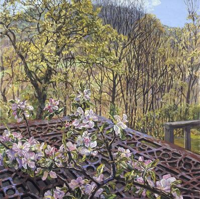 Janet Fish, 'Apple Blossoms/Spring Trees', 2008