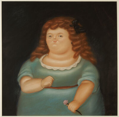 Fernando Botero, 'Young Girl with Pink Flower', 1968