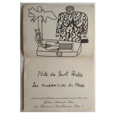 """Niki de Saint Phalle, '""""Les Funérailles du Pe"""",  Exhibition Pamphlet, Galerie Iolas Paris.', 1972"""