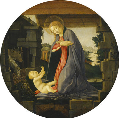 Sandro Botticelli, 'The Virgin Adoring the Child', 1480/1490