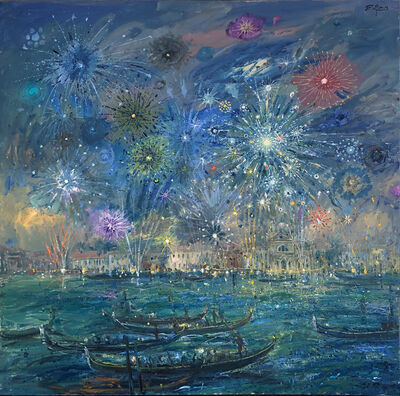 Bruno Zupan, 'Fireworks Over Redentore', 2019