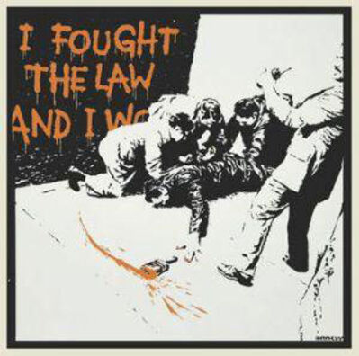 Banksy, 'I Fought The Law (signed)', 2004