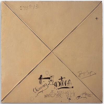 Antoni Tàpies, 'Matèria ocre amb X', 1996