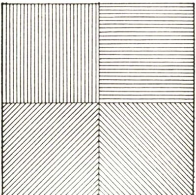 Sol LeWitt, 'Lines in Four Directions', 1976