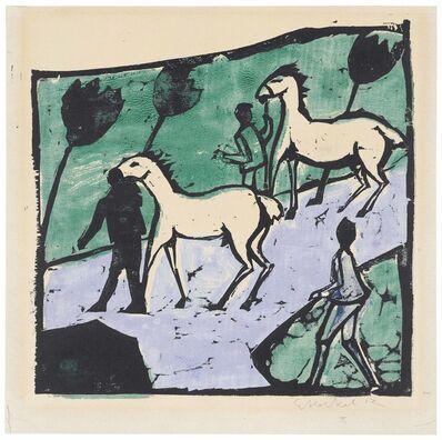 Erich Heckel, 'Weisse Pferde', 1912