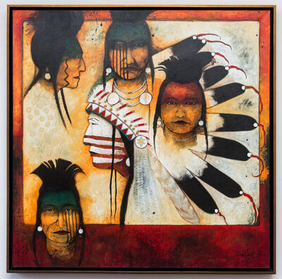 Kevin Red Star, 'Chief and His Men (Crow Indians)', 2015