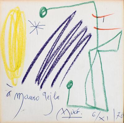 Joan Miró, 'Untitled (Mauro Pejla) | Sans titre', 1970