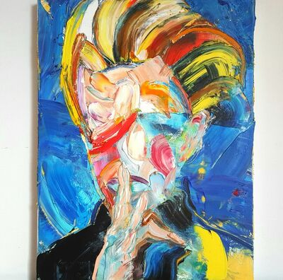Dimitar Hinkov, 'David Bowie - I', 2020