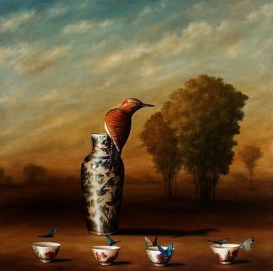 David Kroll, 'Vase and Four Cups'
