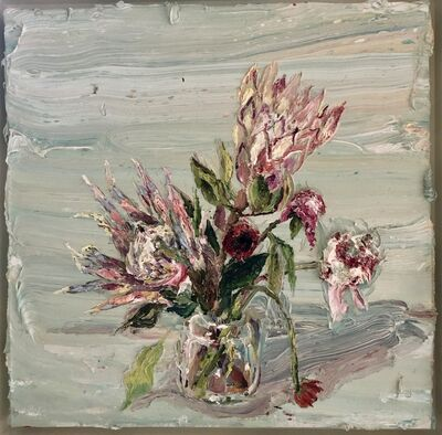 Allison Schulnik, 'Pink Proteas #2', 2012