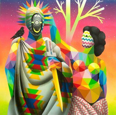Okuda San Miguel, 'Smile Crowning', 2017