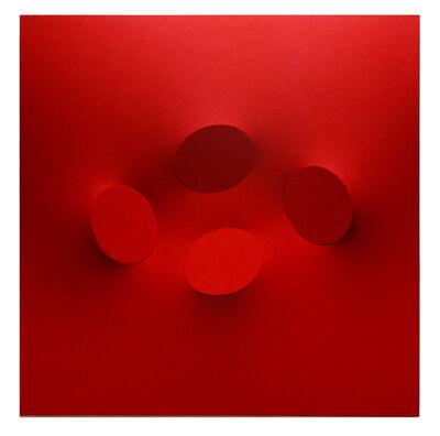 Turi Simeti, '4 ovali rossi', 2020