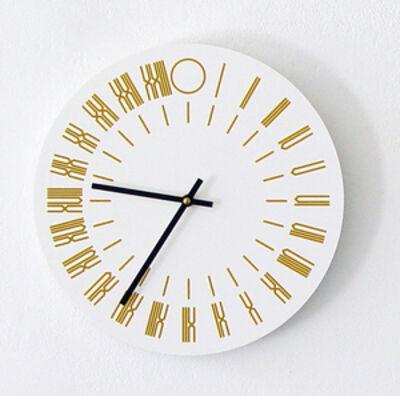 Tauba Auerbach, '24 HOURS WALL CLOCK', 2013