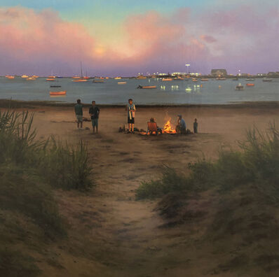 Scott Prior, 'Bonfire on the Harbor', 2019