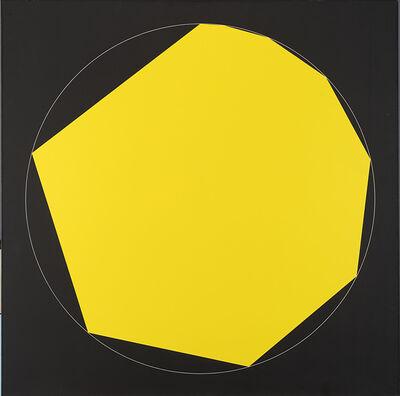 Getulio Alviani, '1.2.3.4.5.6.7.8.9. (poligono regolare progressivo) inscritti nel cerchio 9/0', 1974/1990