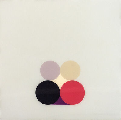 David Cantine, 'Purple Still LIfe 3 - bright, geometric minimalist, acrylic on plexiglass', 2003