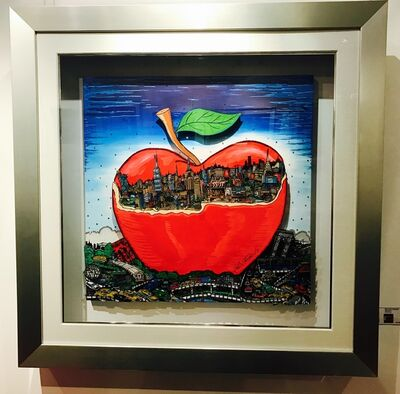Charles Fazzino, 'Red Apple behind the City', 2016