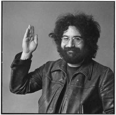 Baron Wolman, 'Jerry Garcia, Waving'