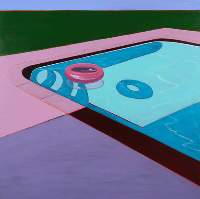 Melissa Chandon, 'Pink Floating Tube in Pool', 2017