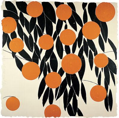 Donald Sultan, 'Fifteen Oranges, 17 September 1992', 1992