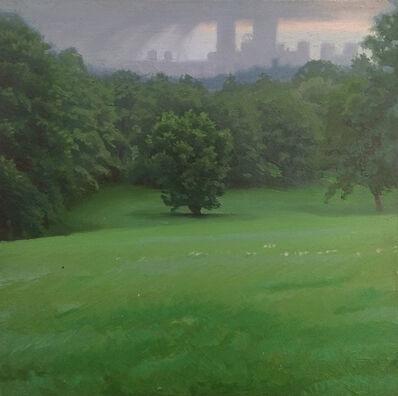 Ed Stitt, 'Boston from Larz, Rainy', 2007
