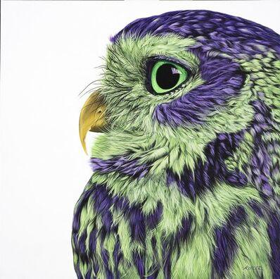 Helmut Koller, 'OWL IN PURPLE & GREEN       ', 2017