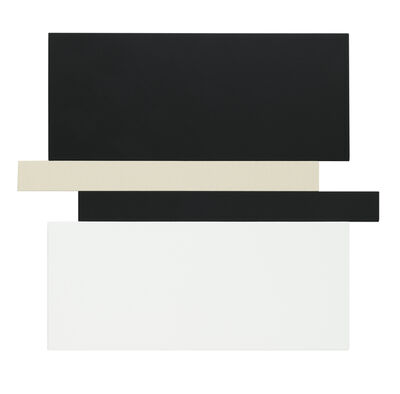 Scot Heywood, 'Compression - Black, Canvas, White', 2019