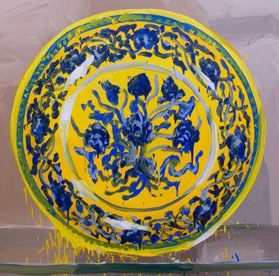 Jan De Vliegher, 'V&A, Chinese Yellow, Blue Flowers', 2012