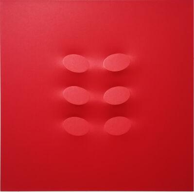 Turi Simeti, 'Red, 6 Ovals', 2017