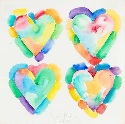 Jim Dine, 'Four Hearts', 1970