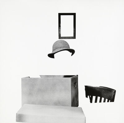 John Baldessari, 'Box, Hat, Frame and Chair', 2011