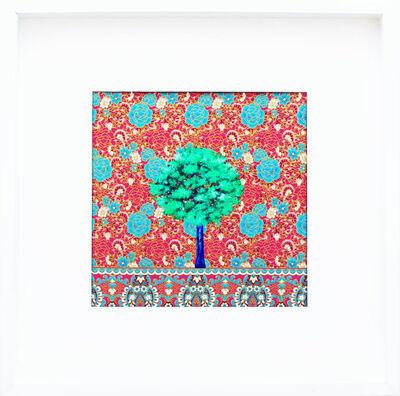 Alexandra Battezzati, 'Petit arbre vert sur fond rose', 2019