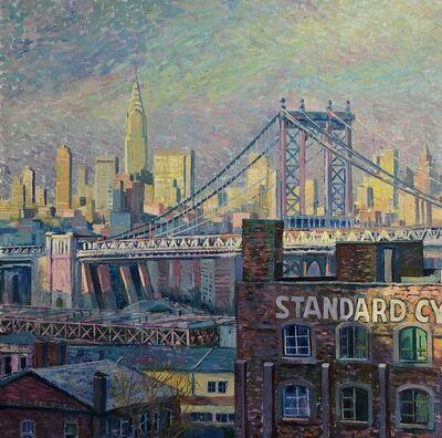 Juan del Pozo, 'Manhattan Bridge I - modern city landscape', 2020