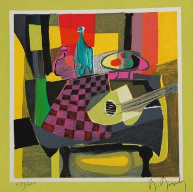 Marcel Mouly, 'Table, Guitare Et Bouteille', 2003