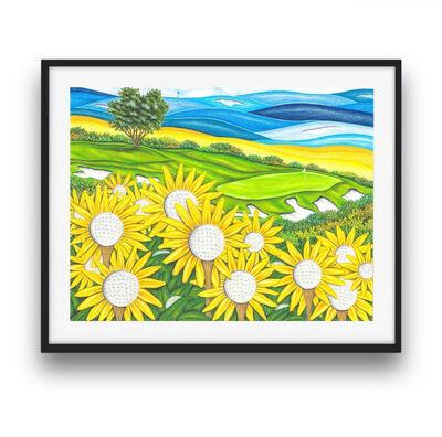 Valentino Dixon, 'Limited Edition Print - Sunflowers', 2016