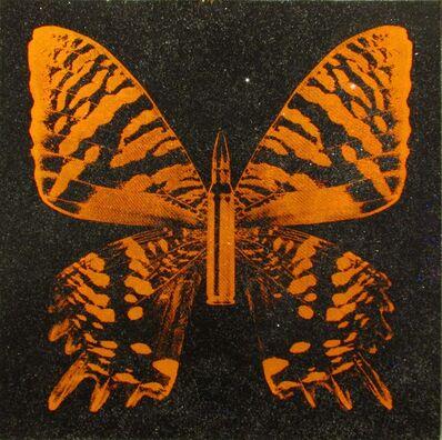 Rubem Robierb, 'Orange Butterfly on Black', 2017