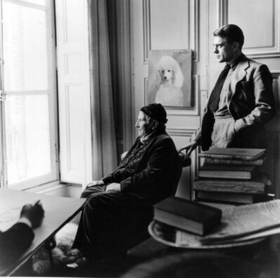 Horst P. Horst, 'Carl Erickson Drawing Gertrude Stein and Horst, Paris', 1946