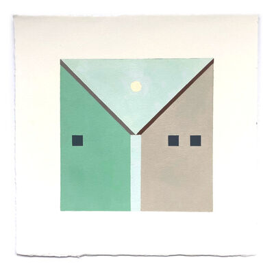 Adrian Kay Wong, 'Neighbors (Teal and Tan)', 2018