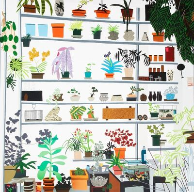 Jonas Wood, 'Large Shelf Still Life, exhibition poster', 2017